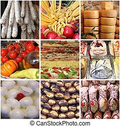 cibo,  collage, italiano