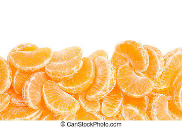 Tangerine segments border - Tangerine or mandarin segments...