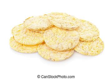Corn crackers heap
