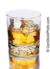 Whiskey Glass with Reflection