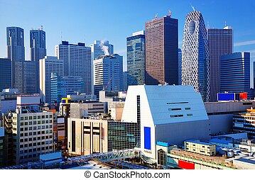 shinjuku district of tokyo, japan