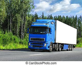 caminhão, entrega