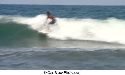 surfer in action - surfer on the wave (BALI, INDONESIA - DEC...