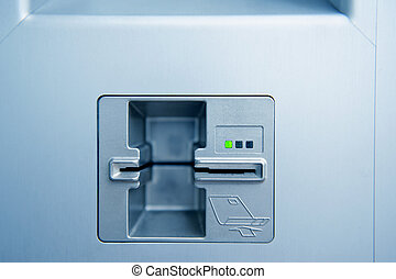 ATM cash point slot - Empty ATM cash point slot with subtle...