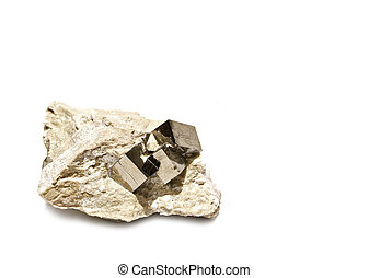 Pyrite Cubes in Matrix - Perfect Pyrite Cube Crystals in...