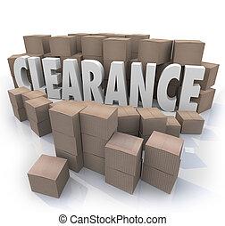 folga, venda, Inventário, caixas, stockroom