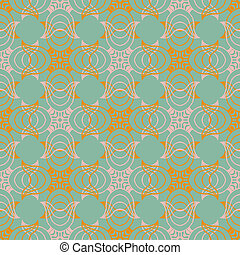 Victorina pattern in natural colors - Seamless vector...
