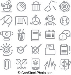 25 school and college icons. Vector education icons set ?4