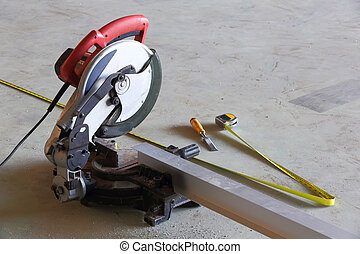 Circular saw using in factory