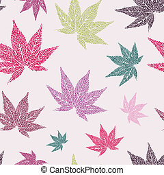 Maple leaves seamless pattern - Seamless pattern with...