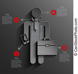 Vector infographic businessman background design. Eps10