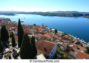Sibenik - View at the old part of Sibenik, Croatia