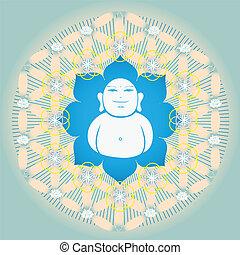 Flower of life with Buddah inside