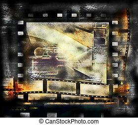 Old film strip frame background