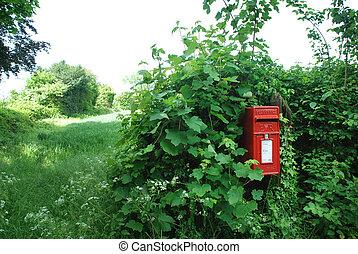 Engliah rural mailbox - rural postbox
