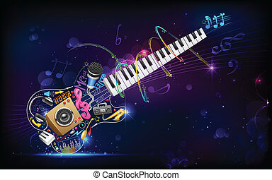 Music Background - illustration of music background with...