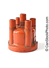 Distributor cap - Long exploited and polluted distributor...