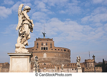 Castel Sant' Angelo - Statue of an Angel on the bridge (Pont...