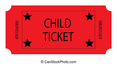 A Red Ticket - A Red Child Ticket