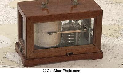 Antique seismometer - Antique wooden seismometer