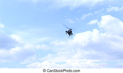 Helicopter passing lowly overhead - Helicopter passing lowly...