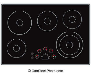 Electric Cooktop - The surface of the modern electric stoves...