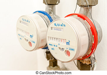 Water Meter - Hot And Cold Water Meters Installed In...