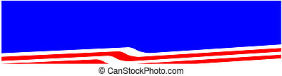 USA Red White Blue Banner Flags