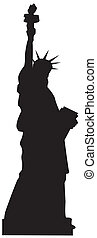 Statue Of Liberty Vector Black  Silhouette