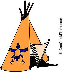 American Indian wigwam
