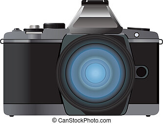 Digital camera vector illustration