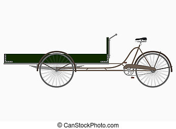 Bekfiest - The three-wheeled utility bicycle on a white...