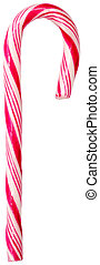 Red Candy Cane Isolated On White