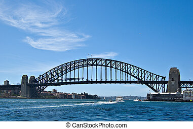 sydney harbour bridge - a great image of the iconic sydney...