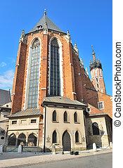 Krakow, Poland. St. Mary's Church