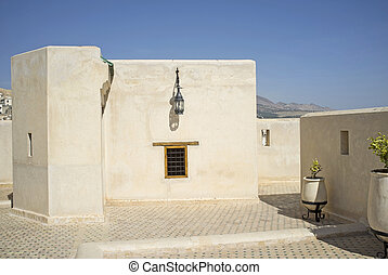 Moroccan architecture - Traditional Moroccan architecture in...