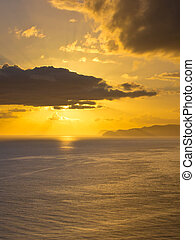Pacific Sunrise - Sunrise Above the Pacific Ocean seen from...