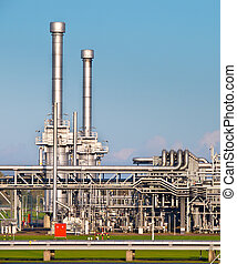 Natural Gas Processing Plant - Detail of a Modern Natural...
