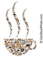 Coffee Cup Symbolic - Various brown coffee related symbols...