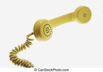 Telephone Receiver on white Background