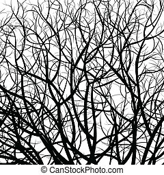 tree pattern - manually drawn tree pattern vector