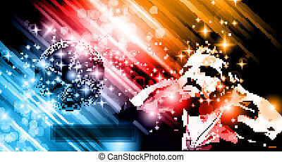 Music Club background for disco dance flyers - Music Club...