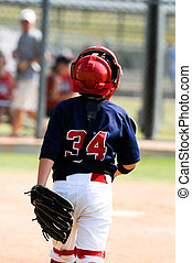 Little league baseball catcher - Youth baseball catcher...