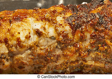 Baked meat - Meatloaf hot from the oven