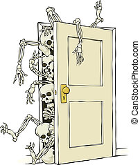 Skeletons in the closet - Cartoon skeletons in the closet...