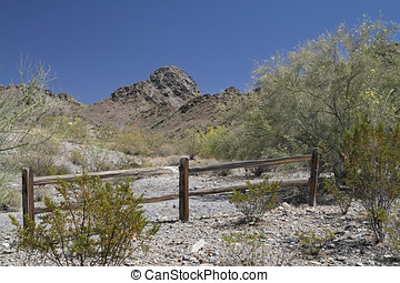 Desert Mountain Landscape with Cloudless Sky