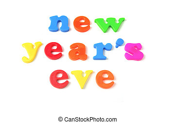 New Year\\\'s Eve on White Background