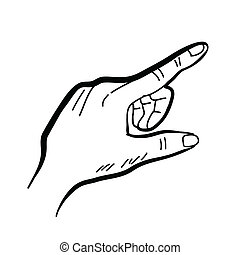 hand drawing hand - hand drawing freehand sketch hand vector...
