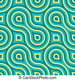Geometric Seamless Pattern - Geometric Vintage Retro...