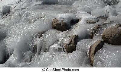 brook water ice frozen